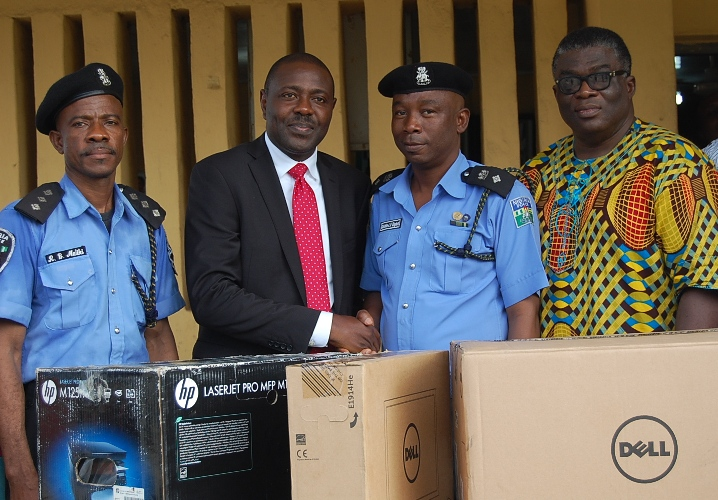 Ikeja-Ketu Men Donates Laptops and Printer to the Police to Kick-start Men's Forum Week
