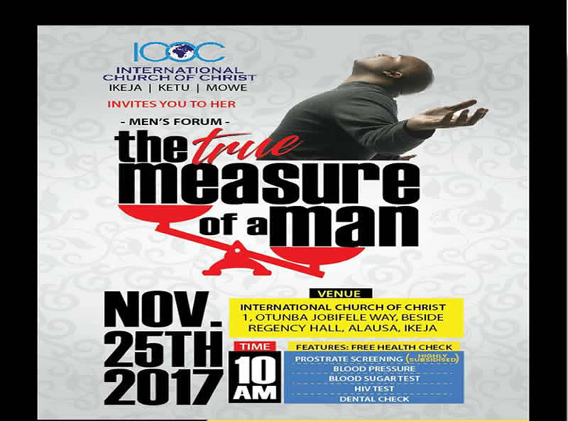 Announcement: The Ikeja-Ketu Men's Forum – The True Measure of a Man